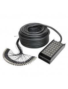 Adam Hall - K32C50 - Câble Multipaire avec Boîtier de Scène 24/8 50 m