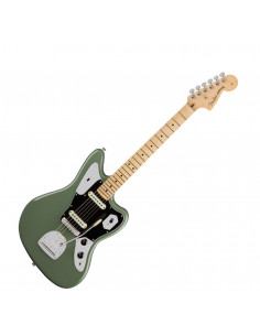 Fender - American Pro Jaguar, Maple Fingerboard, Antique Olive