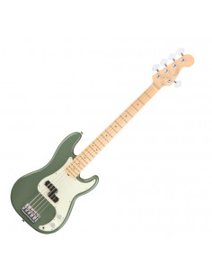 Fender - American Pro Precision Bass V, Maple Fingerboard, Antique Olive