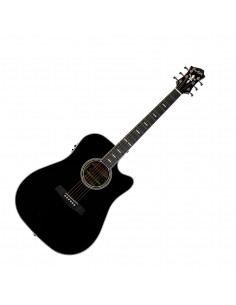 Hagstrom - SID2CEBK - folk, Siljan II, Dreadnought, Black Gloss