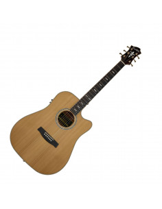 Hagstrom - ELD2CE - folk, Elfdalia II, Dreadnought, Naturel