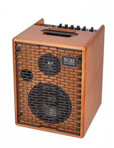 ACUS - One-5TB Acoustic battery power amplifier for street 70W 2 channels natural wood