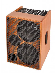 Acus,One-AD Acoustic amplifier 350w 5 channels reverb natural wood