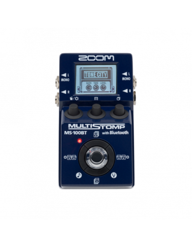 Zoom - MS-100BT MultiStomp Guitar Pedal with Bluetooth