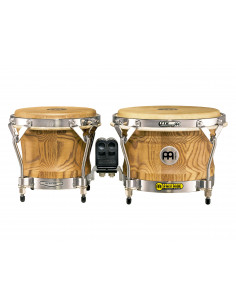 "Meinl - Woodcraft Series (DE patent) WB500 Wood Bongos Zebra Finished Ash 7"" & 9"""