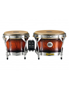 "Meinl - Woodcraft Series (DE patent) WB500 Wood Bongos Antique Mahogany Burst 7"" Macho & 9"" Hembra"