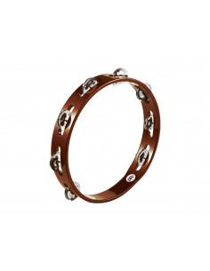 Meinl - Traditional Wood Tambourines, Steel Jingles African Brown 1 row