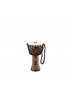 Meinl - Rope Tuned Travel Series Djembes, Synthetic Head (Patented) Kenyan Quilt 8""