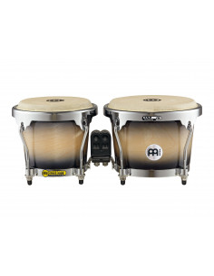 "Meinl - RAPC (Radial Ply Construction) Bongos (DE patent) Black Maple Burst 6 3/4"" & 8"""