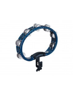 Meinl - Mountable Traditional ABS Tambourine, Aluminum Jingles Blue 2 rows