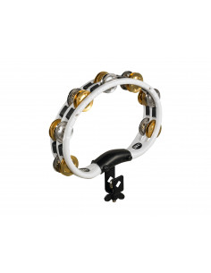 Meinl - Mountable Recording-Combo ABS Tambourine, Dual-Alloy Jingles White 2 rows