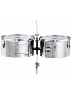 "Meinl - Marathon® Series Timbales (patented) Chrome 14"" & 15"""
