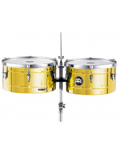 "Meinl - Marathon® Series Timbales (patented) Brass 14"" & 15"""
