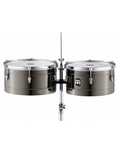 "Meinl - Marathon® Series Timbales (patented) Black Nickel 14"" & 15"""