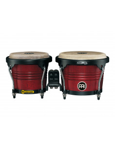 "Meinl - Marathon® Series (DE patent) FWB190 Wood Bongos Cherry Red 6 3/4"" Macho & 8"" Hembra"