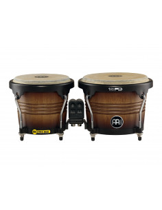 "Meinl - Marathon® Series (DE patent) FWB190 Wood Bongos Antique Tobacco Burst 6 3/4"" Macho & 8"" Hembra"