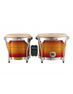 "Meinl - Marathon® Exclusive Series (DE patent) FWB200 Wood Bongos Aztec Red Fade 6 3/4"" Macho & 8"" Hembra"