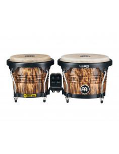 "Meinl,Marathon Designer Series (DE patent) FWB190 Wood Bongos Leopard Burl 6 3/4"" Macho & 8"" Hembra"