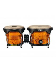 "Meinl,Marathon Designer Series (DE patent) FWB190 Wood Bongos Amber Flame 6 3/4"" Macho & 8"" Hembra"