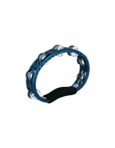 Meinl - Hand Held Traditional ABS Tambourines, Aluminum Jingles Blue 2 rows