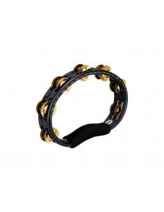 Meinl - Hand Held Traditional ABS Tambourine, Brass Jingles Black 2 rows