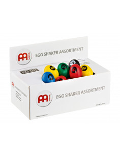 Meinl - Egg Shaker Box Black, Green, Blue, Yellow, Red