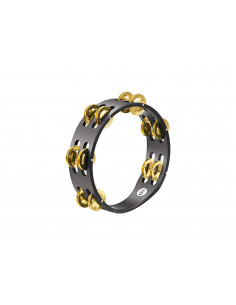 Meinl,Compact Wood Tambourine,Solid Brass Jingles Black 2 rows