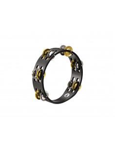 Meinl,Compact Wood Tambourine,Nickel plated Steel / Solid Brass Jingles Black 2 rows