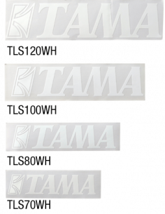 Tama,TLS100 WH Tama LOGO STICKER WHITE