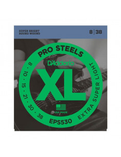 D'Addario,EPS530,Prosteel Extra-Super Light 8-38