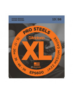 D'Addario,EPS600,Prosteel Jazz Medium 13-56
