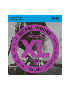 D'Addario,EXL 120,Nickel Wound Super Light 9-42