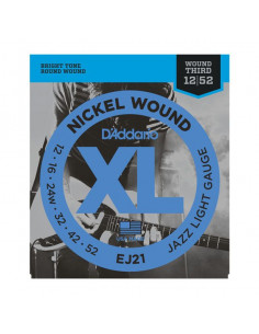 D'Addario,EJ21,Nickel Wound Jazz Light 12-52