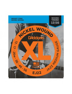 D'Addario,EJ22,Nickel Wound Jazz Medium 13-56