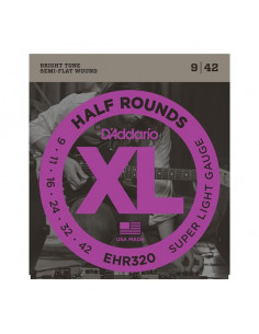 D'Addario,EHR320,Half Round Super Light 9-42