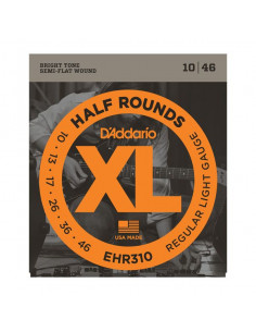 D'Addario,EHR310,Half Round Regular Light 10-46