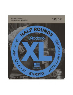 D'Addario,EHR350,Half Round Jazz Light 12-52