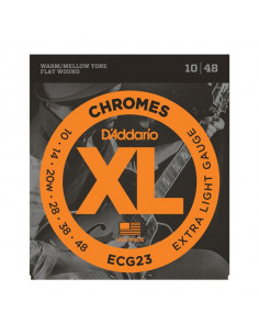 D'Addario,ECG23,Chrome Extra Light 10-48