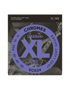 D'Addario,ECG24,Chrome Jazz Light 11-50