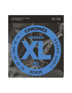 D'Addario,ECG25,Chrome Light 12-52