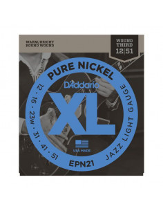 D'Addario,EPN21,Pure Nickel Jazz Light 12-51