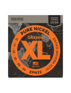D'Addario,EPN22,Pure Nickel Jazz Medium 13-56