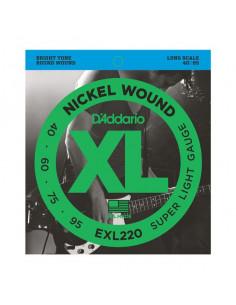D'addario – EXL220 – Nickel Wound Super Light 40-95