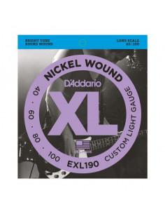 D'addario – EXL190 – Nickel Wound Custom Light 40-100