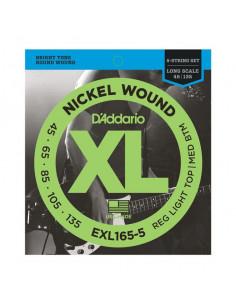 D'addario – EXL165-5 – Nickel Wound 5-Strings  Custom Light 45-135