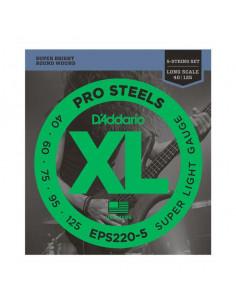 D'addario – EPS220-5 - ProSteels Bass Super Light 40-125