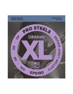 D'addario – EPS190 – ProSteels Bass Custom Light 40-100