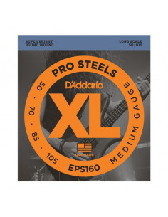 D'addario – EPS160 – ProSteels Bass Medium 50-105