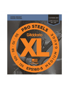 D'addario – EPS160-5 – ProSteels Bass 5-Strings Meidum 50-135