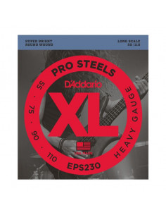 D'addario – EPS230 – ProSteels Bass Heavy 55-110